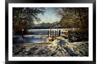 A Snowy Day In Tidmarsh, Framed Mounted Print