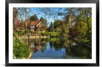 A Backwater At Goring on Thames, Framed Mounted Print