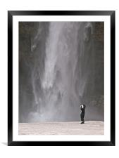 Iceland Waterfall, Framed Mounted Print