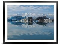 Icebergs and clouds, Framed Mounted Print