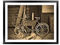 The Fishmongers Bicycle, Framed Mounted Print