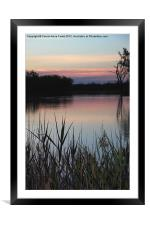 Murray River Sunset Series 2, Framed Mounted Print