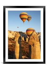 Ballooning Over The Valley Of Love, Framed Mounted Print
