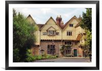 Houses at Winchester, Framed Mounted Print