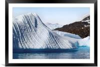 Iceberg & Mountains Antarctica, Framed Mounted Print