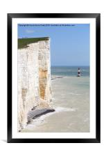 Seven Sisters From The Top Of The Cliffs, Framed Mounted Print
