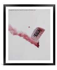 Army Red Beret Parachute Team Member, Framed Mounted Print