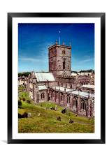 St David's Cathedral. Pembrokeshire, Wales, Framed Mounted Print