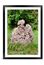 Rollright Stone, Framed Mounted Print