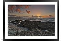 Gwithian Sunset, Framed Mounted Print