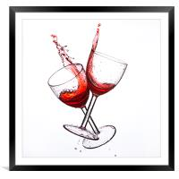 Cheers, Framed Mounted Print