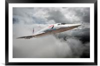 The Mighty  Concorde Soars, Framed Mounted Print