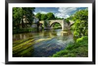 Boudeilles, a bridge on the river Dronne, Framed Mounted Print