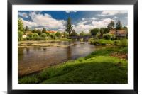 Bourdeilles on the R.Dronne  in the Dordogne , Framed Mounted Print