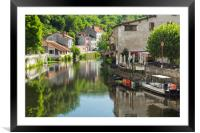 The lazy river Dronne at Brantome, Framed Mounted Print