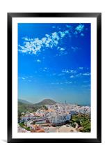 Frigiliana Andalusia Costa del Sol Spain, Framed Mounted Print