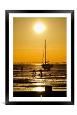 Sunset Thorpe Bay Southend on Sea Essex , Framed Mounted Print