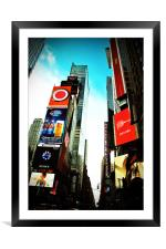 Times Square New York City America USA, Framed Mounted Print