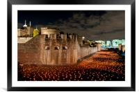 Tower of London Beyond The Deepening Shadow, Framed Mounted Print