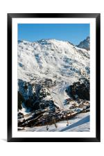 Meribel Mottaret 3 Valleys ski area French Alps, Framed Mounted Print
