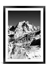 French Alps Mont Vallon Meribel Mottaret France, Framed Mounted Print