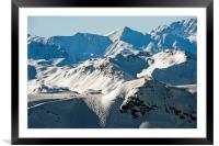 Meribel Mottaret Mont Vallon French Alps, Framed Mounted Print