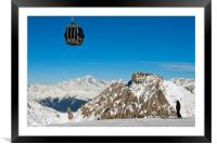 Mont Blanc Mont Vallon Meribel Mottaret France, Framed Mounted Print