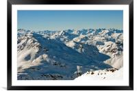Meribel Mottaret 3 Valleys French Alps France, Framed Mounted Print