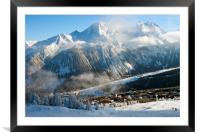 Courchevel 1850 3 Valleys ski area French Alps Fra, Framed Mounted Print