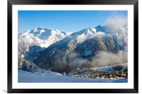 Courchevel 1850 3 Valleys ski area French Alps, Framed Mounted Print
