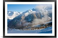 Courchevel 1850 3 Valleys ski area France, Framed Mounted Print