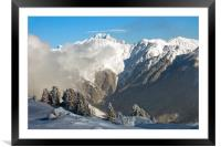 Courchevel 1850 3 Valleys Mont Blanc Alps France, Framed Mounted Print