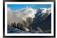 Courchevel 1850 3 Valleys Mont Blanc France, Framed Mounted Print
