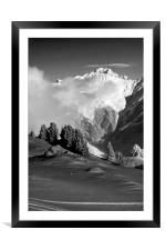 Courchevel 1850 Mont Blanc French Alps France, Framed Mounted Print