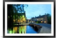 Bourton on the Water Cotswolds Gloucestershire, Framed Mounted Print