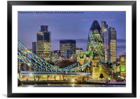 The City Of London, Framed Mounted Print