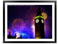 Happy New Year !!, Framed Mounted Print
