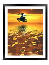Apache AH-1  Attack Helicopter, Framed Mounted Print