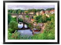 View From The Castle - Knaresborough, Framed Mounted Print