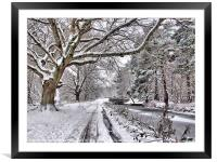Snow On The Towpath, Framed Mounted Print