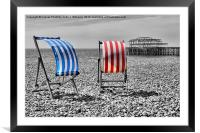 Red White And Blue - Brighton Beach, Framed Mounted Print