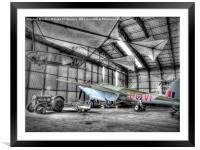 The Elvington Mosquito, Framed Mounted Print