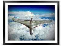 Vulcan XH558 In The Sky !!, Framed Mounted Print