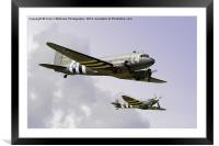 D Day Escort - Dunsfold 2014, Framed Mounted Print