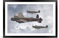 The Battle Of Britain Memorial Flight - Shoreham , Framed Mounted Print