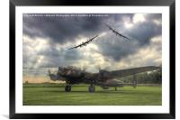 The Prince`s Break - The 3 Lancasters, Framed Mounted Print