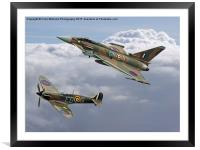 Spitfire and Typhoon Battle of Britain 3, Framed Mounted Print