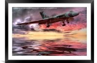 Sunset on The Vulcan, Framed Mounted Print