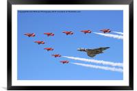 Final Vulcan flight with the red arrows 7, Framed Mounted Print