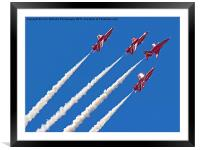The Red Arrows RIAT 2015 8, Framed Mounted Print